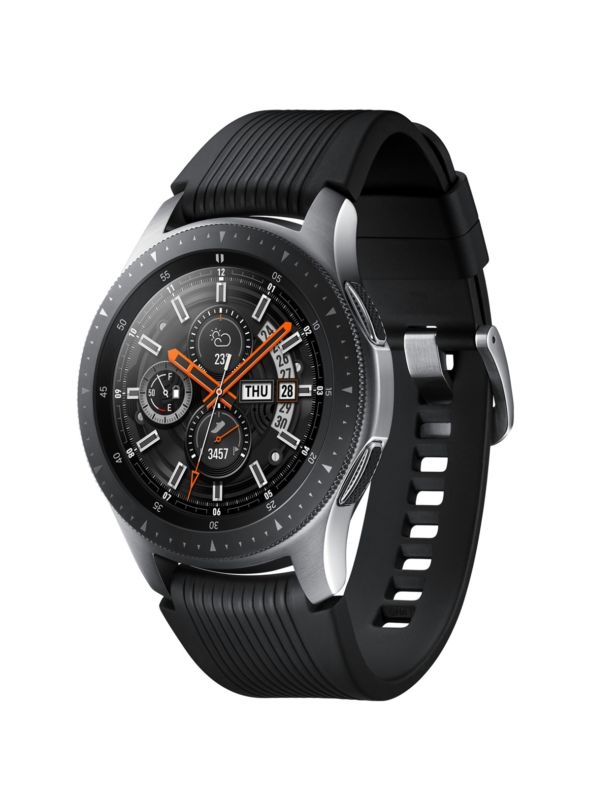 Standart Samsung Galaxy Watch Akıllı Saat (46Mm) (Android Ve iPhone Uyumlu) Gümüş